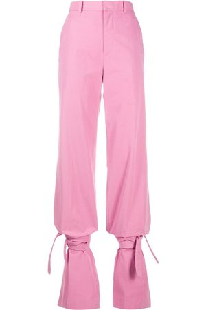 The Attico Women Trousers - High-waisted tie-ankle trousers