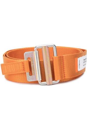 Heron Preston Men Belts - Tape logo patch detail belt
