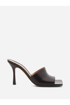 Bottega Veneta Women Sandals - Stretch Square-toe Leather Mules - Womens