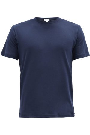 Sunspel Sea Island Cotton-jersey T-shirt - Mens - Navy