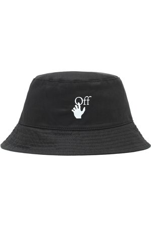 OFF-WHITE Logo cotton bucket hat
