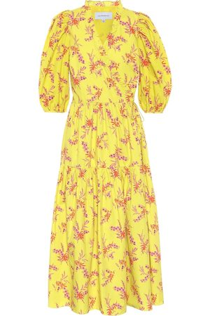 Les Rêveries Exclusive to Mytheresa – Floral cotton poplin midi dress