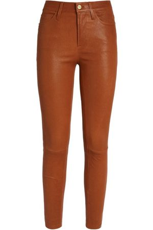 Frame Le High Leather Skinny Jeans