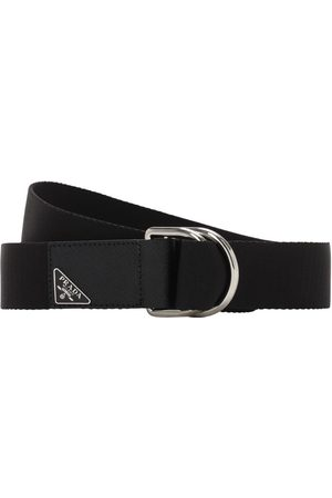 Prada 35mm Logo Techno Belt W/leather Details