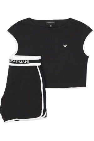 Emporio Armani Cotton T-shirt & Sweat Shorts