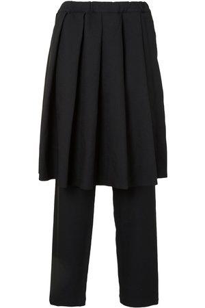 Comme des Garçons Pleated skirt-panelled trousers