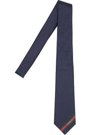 Gucci Men Ties - 7cm Gg Logo Silk Tie