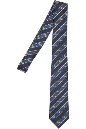 Gucci 7cm Gg Interlocking Striped Silk Tie