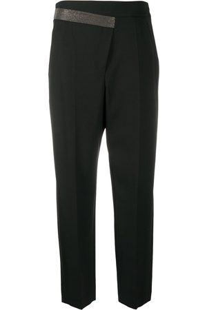 Brunello Cucinelli Brass-embellished tailored trousers