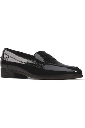 Clarks Women Loafers - Hamble Loafer - Black Patent