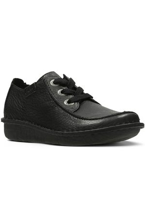 Clarks Funny Dream Lace Up Flat Shoe - Black