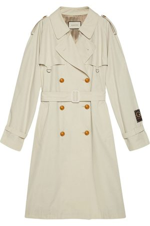 Gucci Logo-patch trench coat