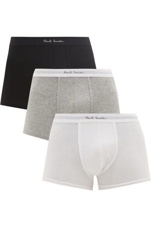 Paul Smith Pack Of Three Cotton-blend Jersey Boxer Briefs - Mens - Multi