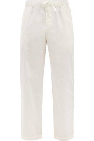 Tekla Elasticated-waist Organic-cotton Pyjama Trousers - Mens - Cream