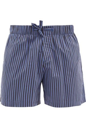 Tekla Striped Organic-cotton Pyjama Shorts - Mens
