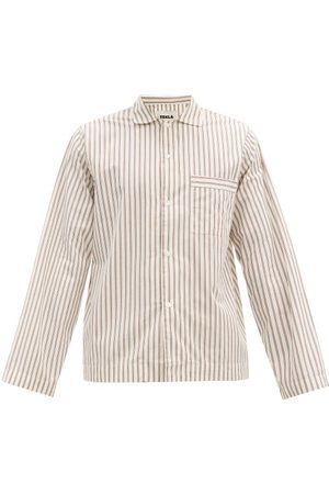 Tekla Men Pyjamas - Striped Organic-cotton Pyjama Shirt - Mens