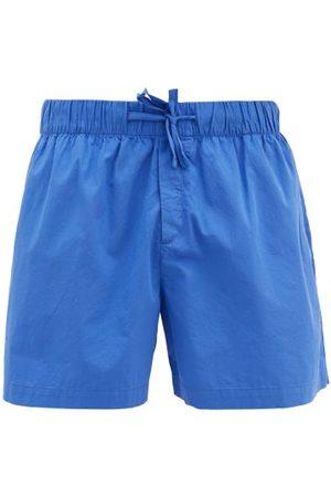Tekla Men Pyjamas - Drawstring-waist Cotton-poplin Pyjama Shorts - Mens