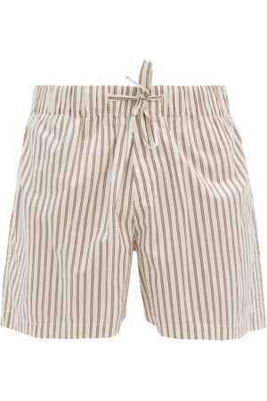 Tekla Drawstring-waist Cotton-poplin Pyjama Shorts - Mens