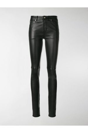 Saint Laurent Women Leather Trousers - Leather skinny trousers