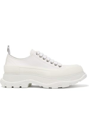 Alexander McQueen Women Trainers - Hybrid Slick Chunky-sole Canvas Trainers - Womens