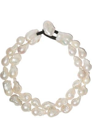 MONIES Double pearl necklace - BAROQUE PEARLS