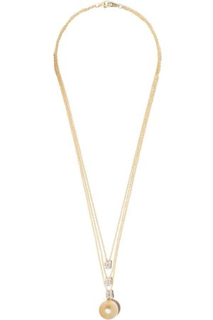 Yoko London 18kt yellow gold Starlight Golden South Sea Pearl and diamond necklace - 6