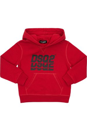Dsquared2 Logo Print Cotton Sweatshirt Hoodie