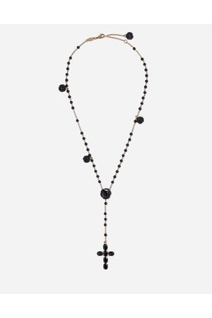 Dolce & Gabbana Jewelry - TRADITION ROSARY IN YELLOW WITH BLACK SAPPHIRES
