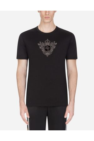 Dolce & Gabbana T-Shirts and Polos - COTTON T-SHIRT WITH PATCHES