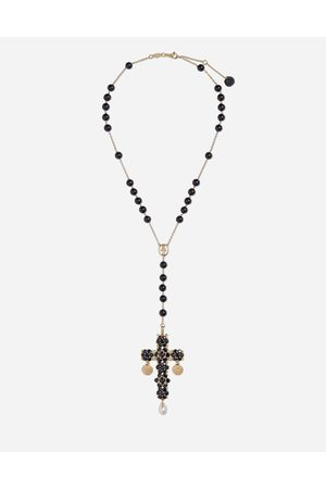 Dolce & Gabbana Jewelry - TRADITION ROSARY IN YELLOW BLACK SAPPHIRES