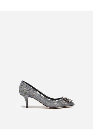 Dolce & Gabbana Pumps - PUMP IN TAORMINA LACE WITH CRYSTALS
