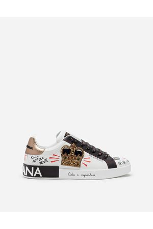 Dolce & Gabbana Sneakers - PORTOFINO SNEAKERS IN PRINTED NAPPA CALFSKIN WITH PATCH
