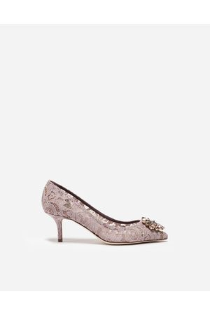 Dolce & Gabbana Women Heels - Pumps - PUMP IN TAORMINA LACE WITH CRYSTALS