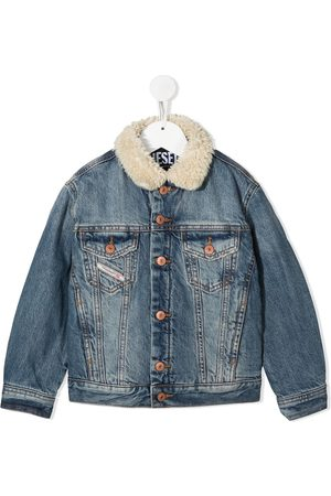 Diesel Shearling collar denim jacket