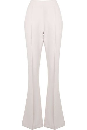 MATICEVSKI High-waisted skinny flare trousers - Neutrals