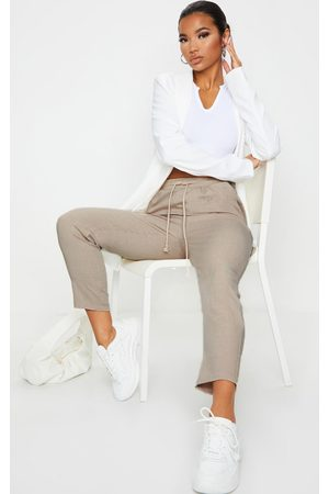PRETTYLITTLETHING Taupe Diya Casual Trousers