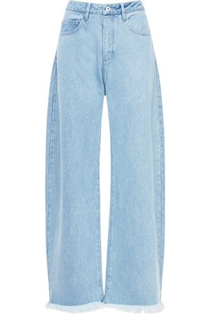 MARQUES'ALMEIDA Women Bootcut - High Waist Cotton Wide Leg Jeans