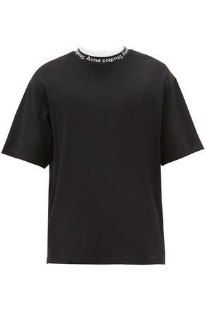 Acne Studios Extorr Logo-jacquard Jersey T-shirt - Mens