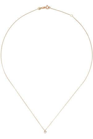 Milka 14kt rose diamond love mini necklace