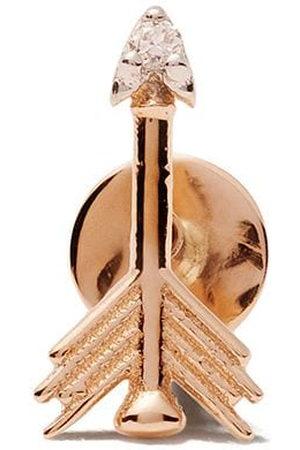 Milka 14kt rose arrow piercing diamond stud earring