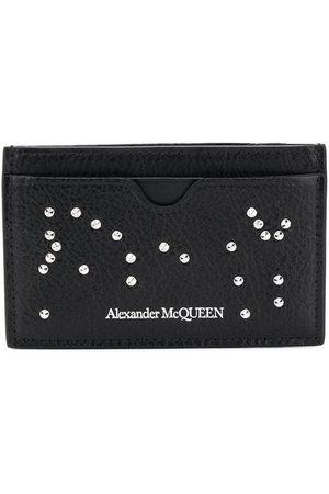 Alexander McQueen Crystal-embellished leather cardholder