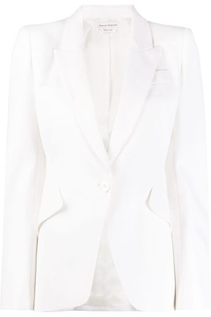 Alexander McQueen Single-breasted peaked lapels blazer