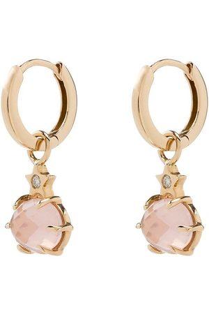 Andrea Fohrman 14kt rose quartz earrings