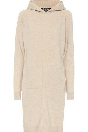 Loro Piana Hooded cashmere knit dress