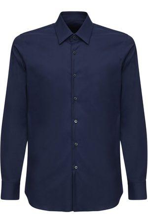Prada Slim Stretch Cotton Poplin Shirt