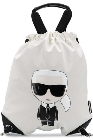 Karl Lagerfeld K/Ikonik drawstring backpack