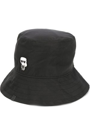 Karl Lagerfeld K/Ikonik-print bucket hat
