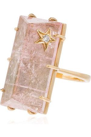 Andrea Fohrman 14kt , diamond and quartz ring