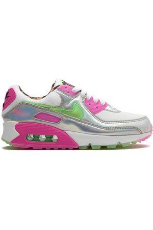 Nike Womens Air Max 90 LX Pony Hair Beige Pink Tan Blue