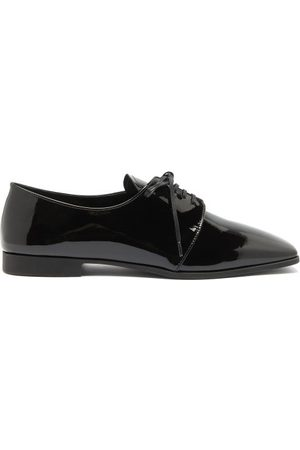 Prada Square-toe Patent-leather Shoes - Womens